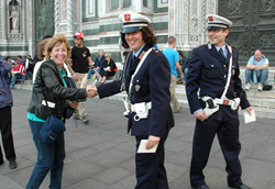 Meeting Officers in Italy