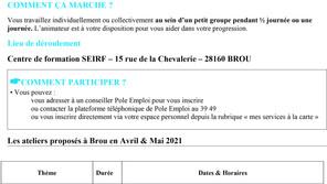 Ateliers Pôle Emploi à Brou
