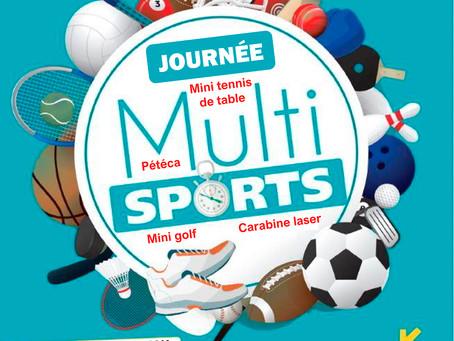 Journée multisports à Bonneval le 12 juillet 2021 pour les 7-17 ans