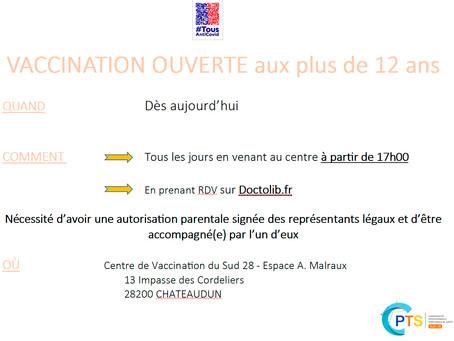 Centre de vaccination du Sud28 Châteaudun