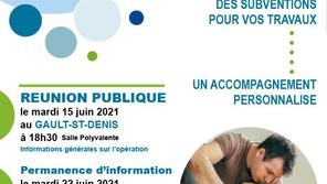 Des subventions pour vos travaux de rénovation : 2 réunions publiques
