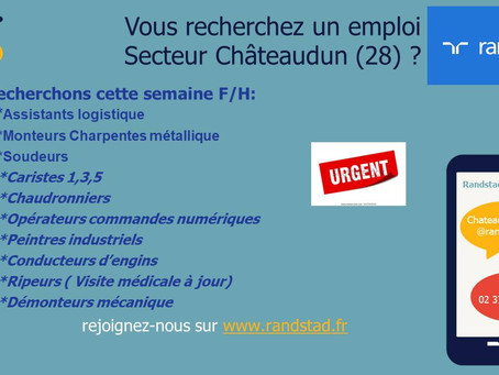 RANDSTAD recrute secteur Châteaudun