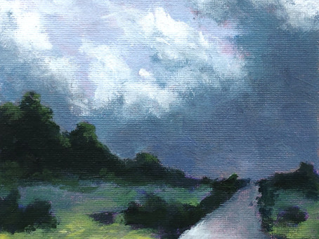 Intuitive Painting #4 - Valley Storm