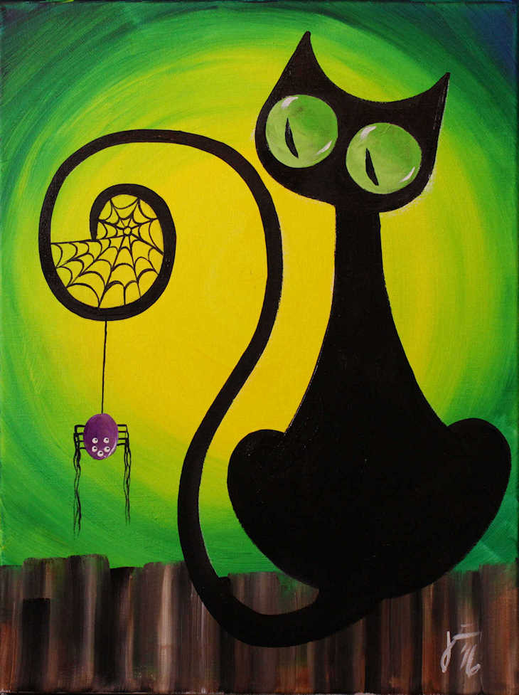 super cute and simple cat and spider 2016 by jane font all rights reserved