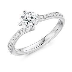 round diamond twist delicate engagement ring swindon bristol