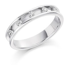 mens diamond ring channel setting man wedding engagement ring for him gents platinum white gold