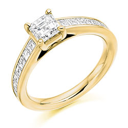yellow gold asscher diamond engagement ring ornate vintage style proposal