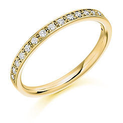 2.1mm 0.25ct band diamond claw setting round brilliant cut wedding eternity ring wiltshire swindon b