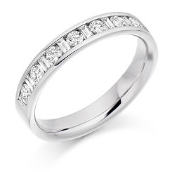0.50ct band baguette diamond claw swindon round brilliant cut wedding eternity ring wiltshire bristo