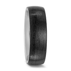 BLACK WEDDING RING, TITANIUM, BLACK CARBON