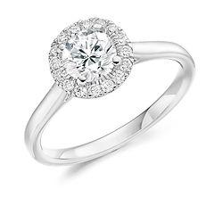 platinum white gold round brilliant cut diamond halo sparkle cardiff wiltshire swindon bristol