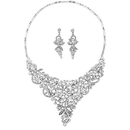 Full Necklace Piece and Matching Drop Earrings