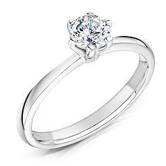 6 claw traditional engagement ring white gold platinum round diamond bristol swindon