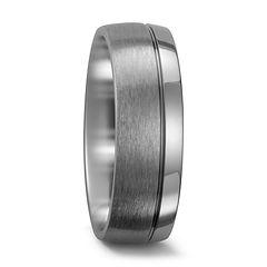 Titanium band, 2 thirds brushed, 1 third polished
