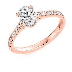 oval cut diamond band engagement ring rose gold wedding she said yes
