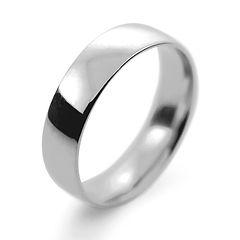platinum white gold palladium 5mm traditional court mens man wedding ring