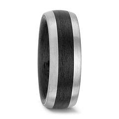 carbon, titanium wedding ring