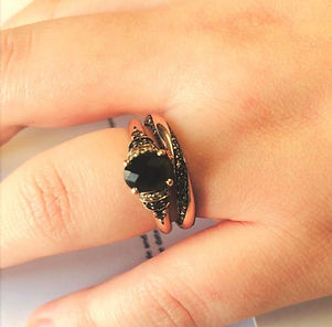 bespoke wedding ring brown diamond rose gold holly robinson jewellery