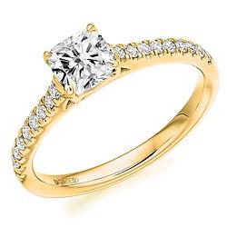 princess cut engagement ring platinum white gold bespoke diamond bristol cardiff swindon oxford