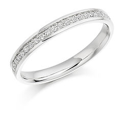 2.6mm 0.17ct band diamond claw setting round brilliant cut wedding eternity ring wiltshire swindon b