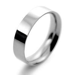 platinum white gold palladium 5mm flat court mens man wedding ring