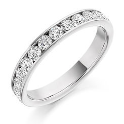 0.70ct band diamond channel setting round brilliant cut wedding eternity ring wiltshire swindon