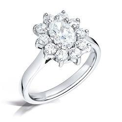 oval cluster kate middleton platinum round diamond halo cardiff bristol swindon marriage