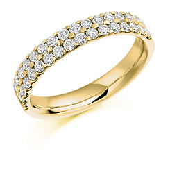 microclaw two row diamond ring fancy eternity wedding cardiff bristol swindon wiltshire jewellery