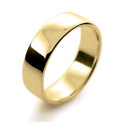 yellow gold 6mm  slight court mens man wedding ring