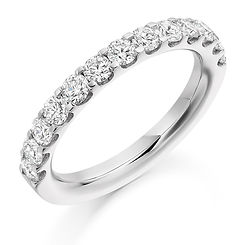 3mm 1.00ct band diamond claw setting round brilliant cut wedding eternity ring wiltshire swindon bri