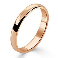​2.5mm Rose Gold Traditional Court band
