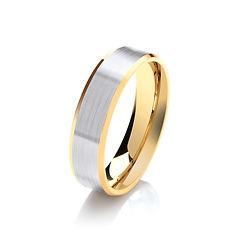 platinum white gold palladium wedding ring TWO TONE MATT gents men man