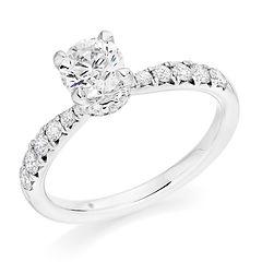 4 claw round brilliant diamond sparkle engagement ring classic bristol cardiff