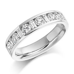 1.10ct band diamond channel baguette round brilliant wedding eternity ring wiltshire swindon bristol