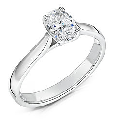 oval diamnd platinum white traditional 4 claw engagement ring proposal wiltshire avon bespoke