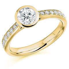 yellow white gold round brilliant cut diamond engagement ring sparkle cardiff wiltshire swindon bri