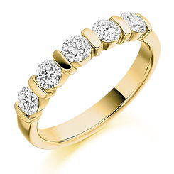 band diamond bar set round brilliant wedding eternity ring wiltshire swindon bristol cardiff