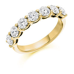 3.8mm 1.50ct band diamond claw setting round brilliant cut wedding eternity ring wiltshire swindon b