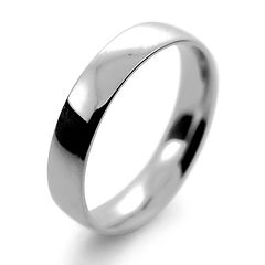 platinum white gold palladium 4mm traditional court mens man wedding ring