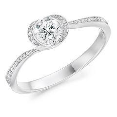rose round diamond platinum engagement ring proposal dream ring
