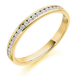2.5mm 0.25ct band diamond claw setting round brilliant cut wedding eternity ring wiltshire swindon b