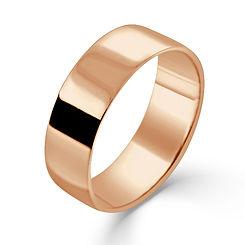 rose gold 7mm flat court mens man wedding ring