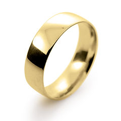 yellow gold 6mm traditional court mens man wedding ring