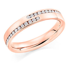 mens diamond ring channel setting man wedding engagement ring for him gents
