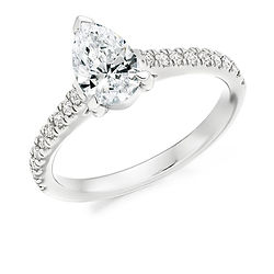 pear shaped diamond classic traditional engagement ring band wedding