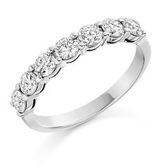 3mm 1.00ct band diamond claw setting round brilliant cut wedding eternity ring wiltshire swindon b