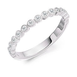 band diamond  millgrain rubover round brilliant wedding eternity ring wiltshire swindon bristol