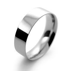 platinum white gold palladium 6mm flat court mens man wedding ring