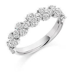 fancy diamond ring blossom organic flower jewellery eternity wedding jewellery swindon  bristol