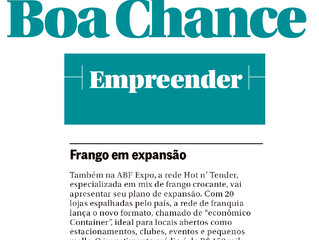 Hot n' Tender no Caderno Boa Chance     // O Globo DOMINGO //